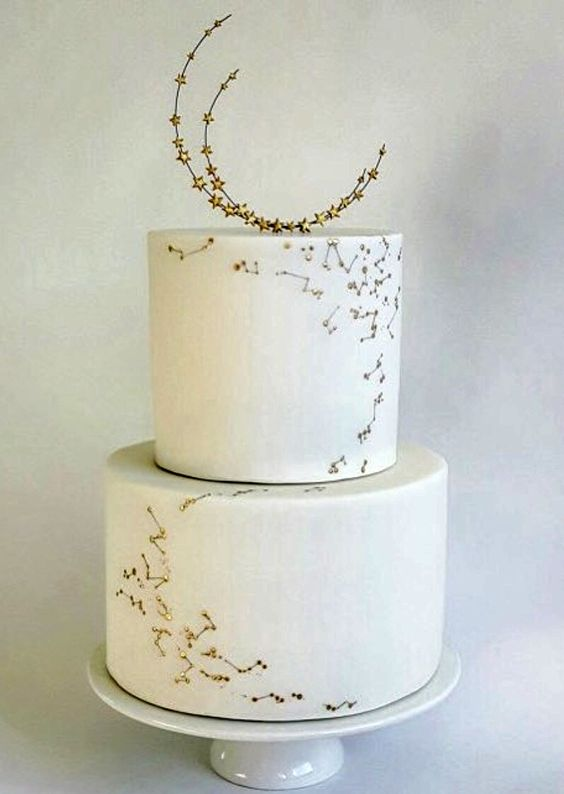 A little texture and decor goes a long way to make your wedding cake unique.