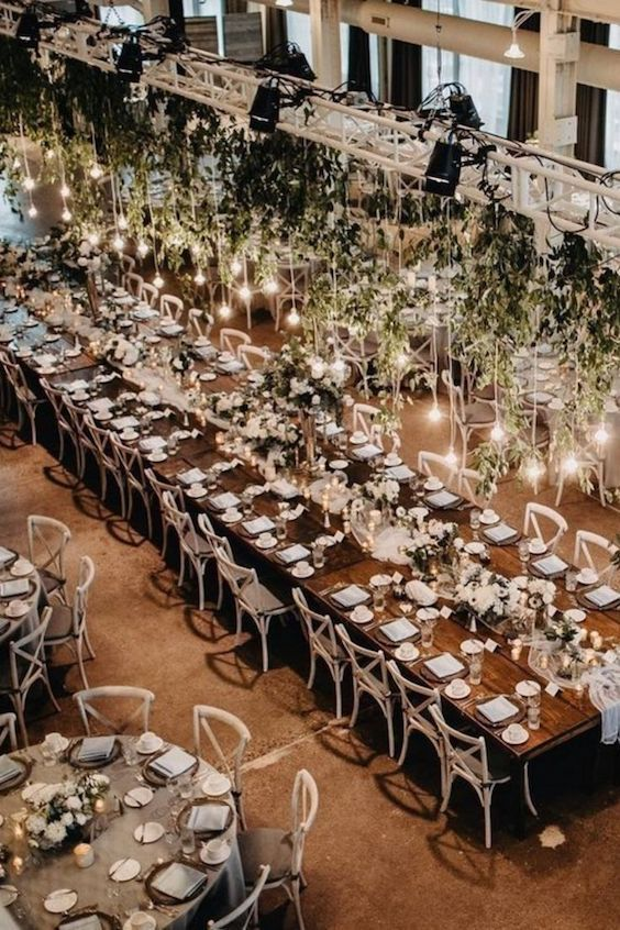 Add some shine to your wedding reception decor ideas and transform your lofty space into a glam and elegant one.
