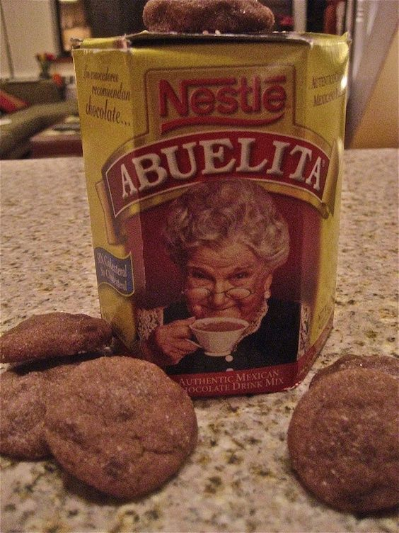 Abuelita chocolate cookies. So Mexican and so incredibly delicious!