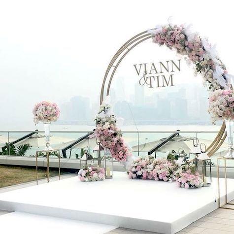 Un montaje digno de una boda original y romántica en la ciudad de Chicago. ¿Qué opinas?