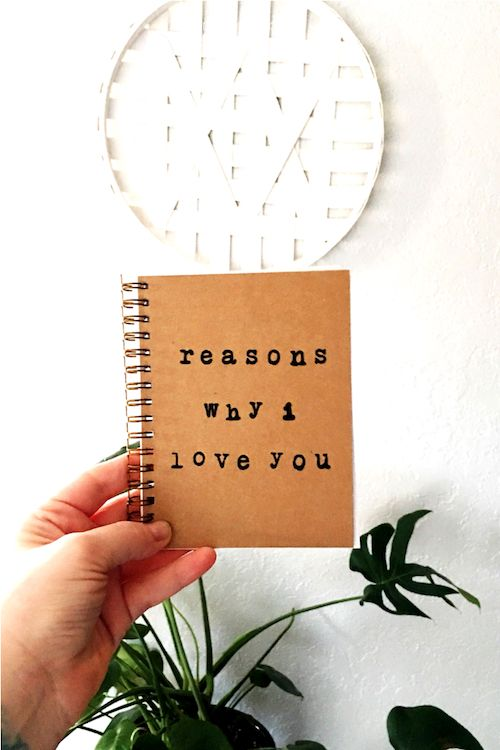 """Reasons Why I Love You"" journal, a perfect gift for Valentine's day."