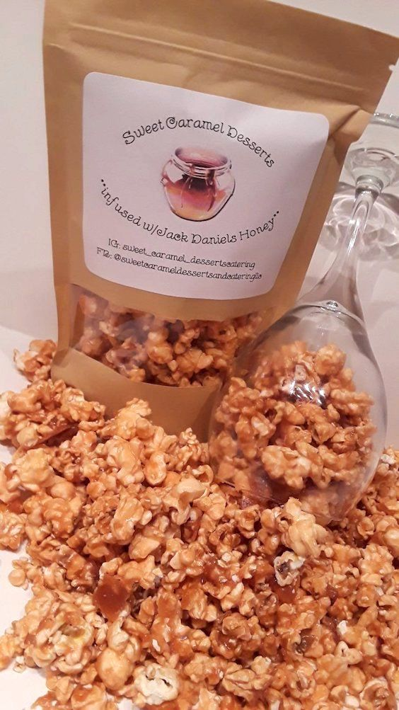 Jack Daniels honey infused popcorn. Have you chosen your Valentine's day gift yet?