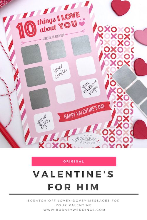 Scratch off lovey-dovey messages for your Valentine.