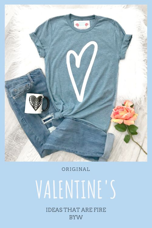 Metallic silver heart T-shirt.