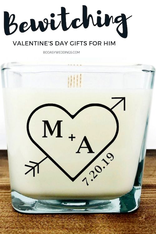 Personalized heart soy scented candles.