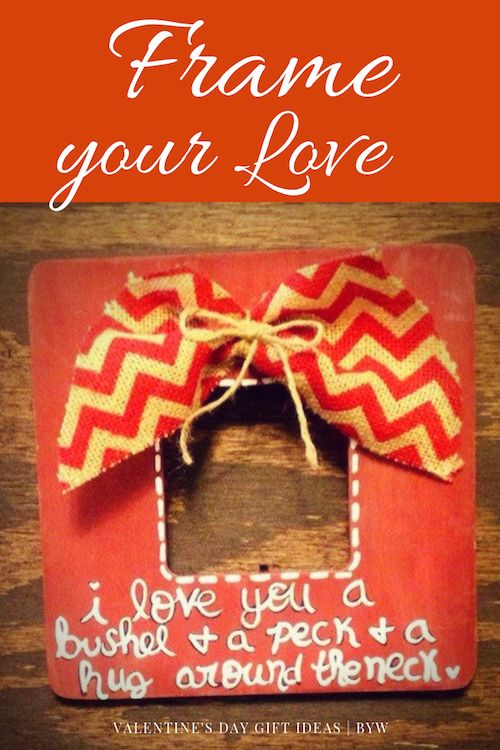 Personalized photo frame for Valentine's day.