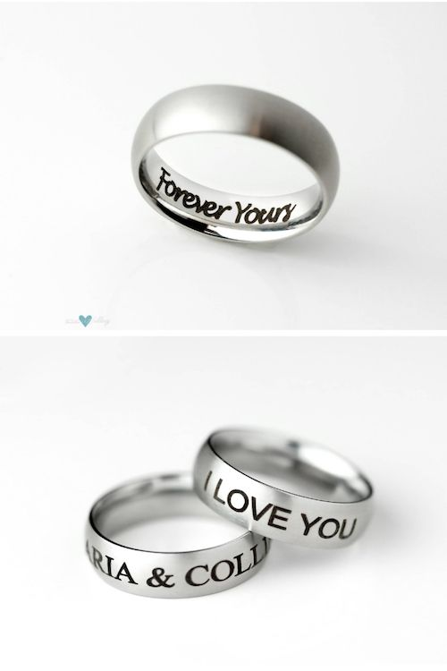 Give him a promise ring in a unique romantic gesture this Valentine's day.