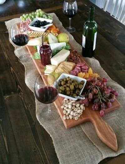 Impress your friends and guests with this beautiful display of your favorite antipasto foods as they run down the table. Served over an extra large oak serving platter made in Homerville, Ohio.