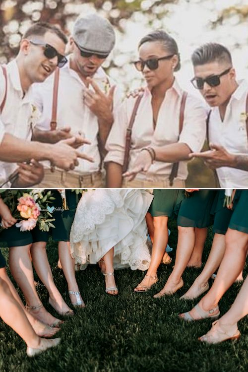 We love breaking up with tradition! It makes way more sense to choose bridesmaids for your wedding based on the bonds you have with friends and family. Gades Photography.