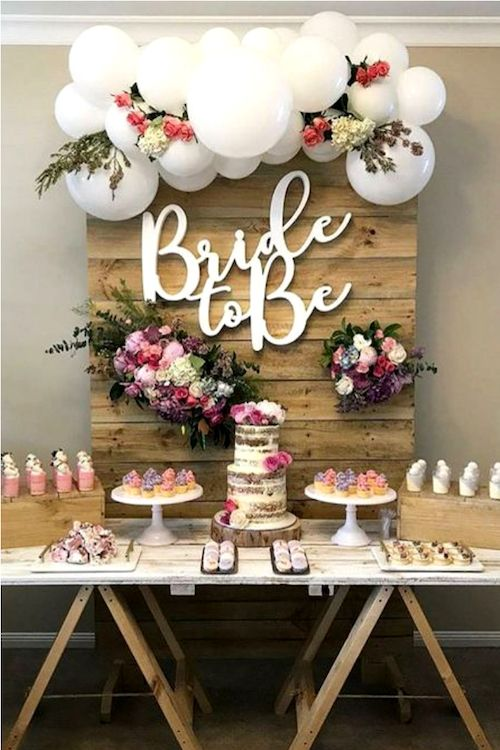 Ask the bridesmaids to help you put together a fab bridal shower.