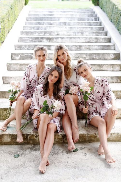 Don't these bridesmaids look adorable in their robes by lerose?