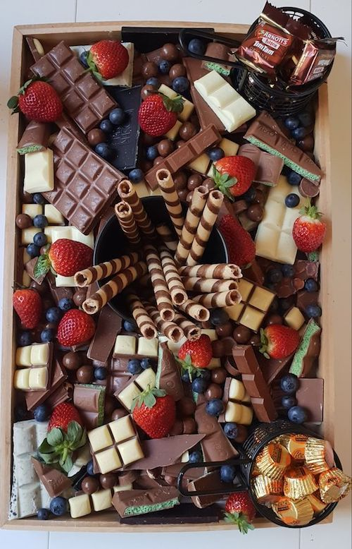 Close your event with a chocolate and candy platter.