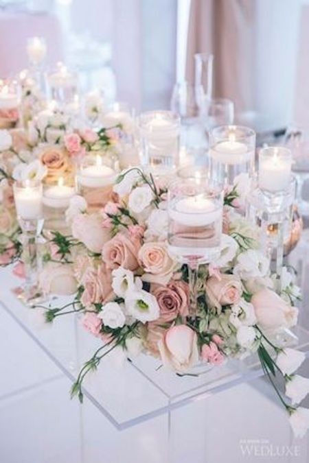 Enamorada del color blush para un matrimonio. No te pierdas estas ideas. Foto: wedluxe.