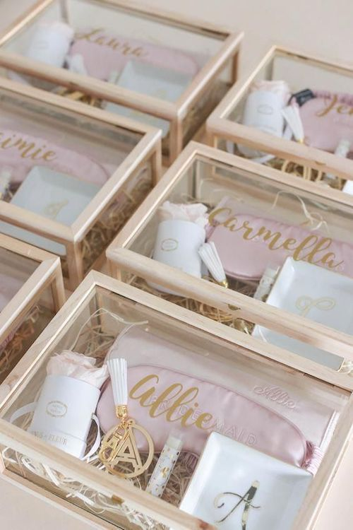 DIY your very own tres chic, tres unique, bridesmaid proposal box.