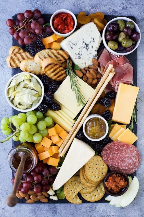 How to setup a perfect charcuterie board and a guide to pairing the flavors. Photo: joyful healthy eats.
