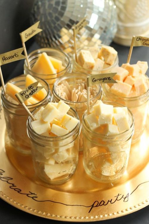 Mason jar cheese tray.