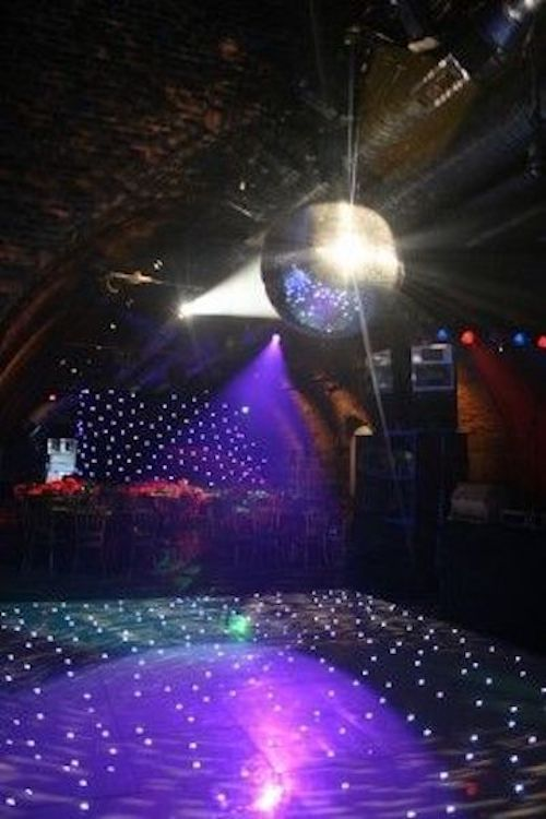 Don't forget the disco ball for a 70s themed wedding dance floor.