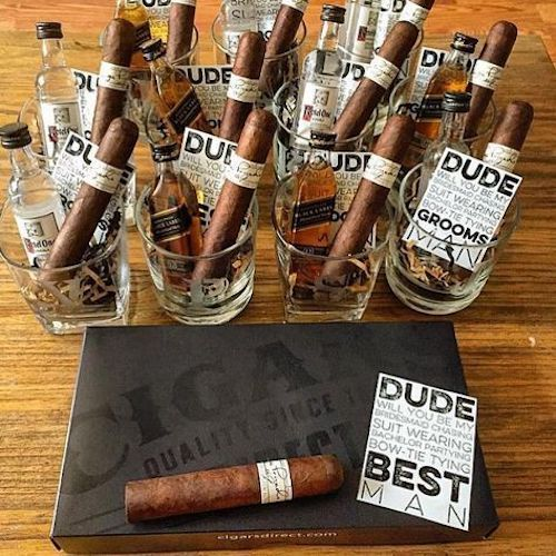 Can you say best groomsman gift ever?! These are some lucky groomsmen.
