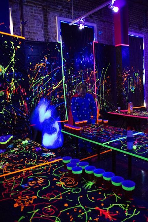 Get your guests moving with black lights by SweetLabs.