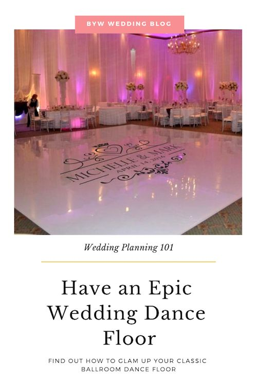 Classic ballroom dance weddings never go out of style, but we can make it's dance floor with decals chandeliers and dimmable lights to add to the evening glam.
