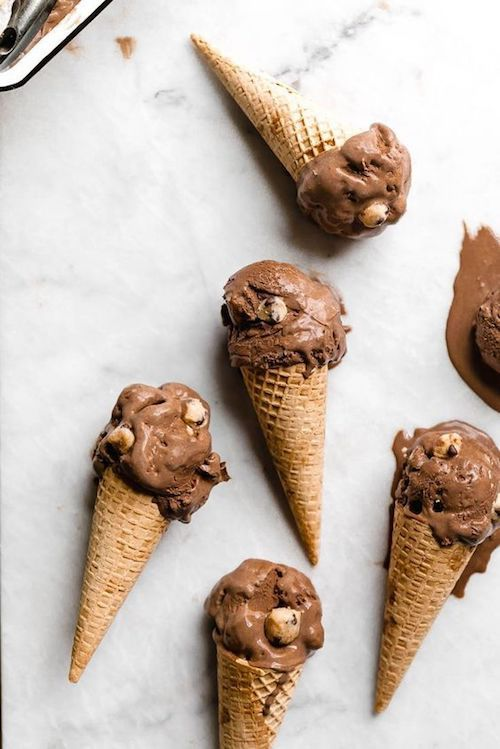 Double dark chocolate cookie dough ice cream by bromabakery.