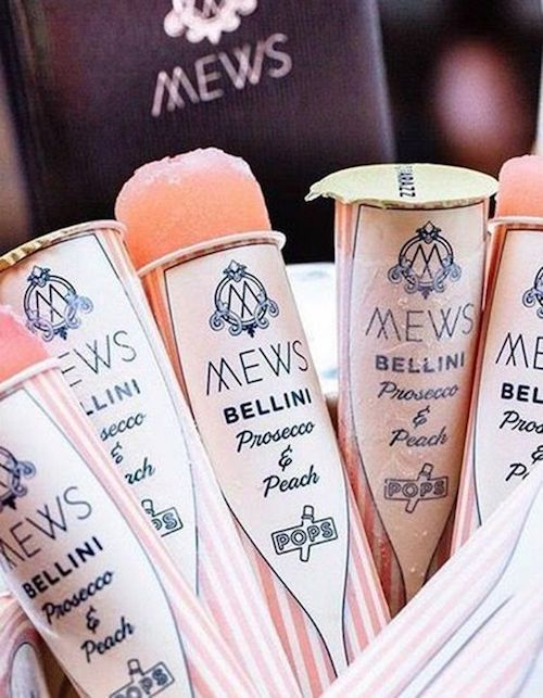 "Signature drinks to wow your guests. These frozen Bellini pops give ""on the rocks"" a whole new meaning."
