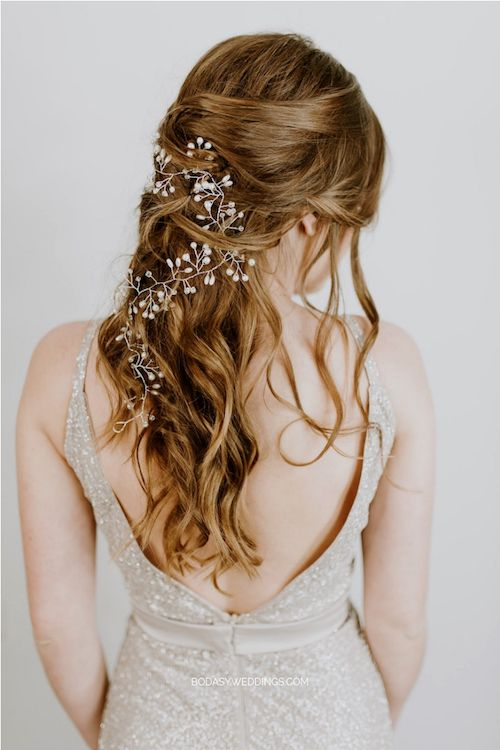 Half up half down. A bridal hairstyle you will want to wear right now.