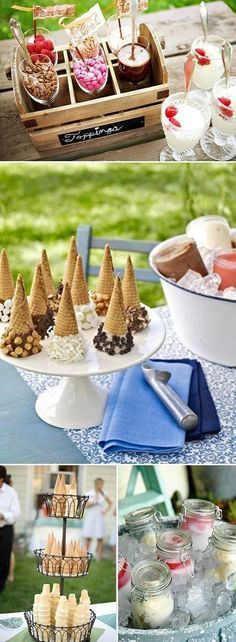 We all scream for ice cream! Yes, we do! Ice cream dessert tables.