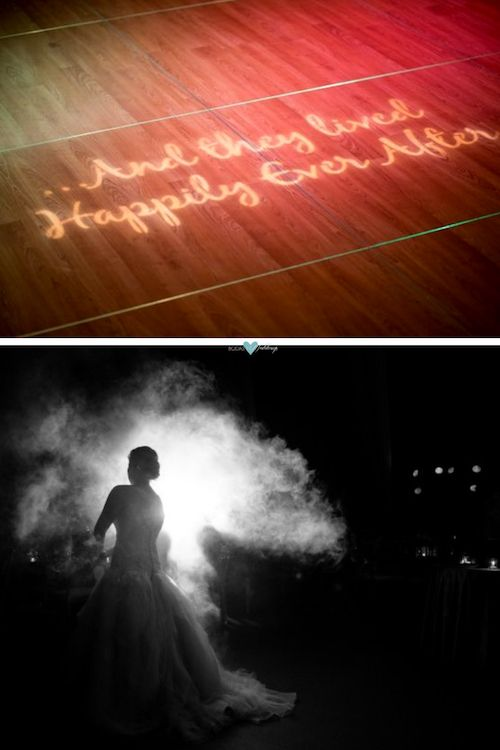 Image mapping a technique that could be more affordable than you think. Give it a whirl! Consult a couple of vendors and see if it's for you. As far as wedding dance floor ideas this one is lit. Source: McKenzie Stewart Weddings.
