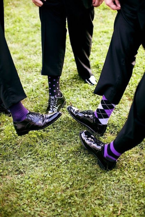 Harry Potter inspired mismatched groomsmen socks. Wave Hill Wedding by Christian Oth Studio.