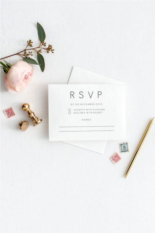 ¿Pondrás tu nombre y el de tu plus one en la tarjeta de respuesta a la boda?
