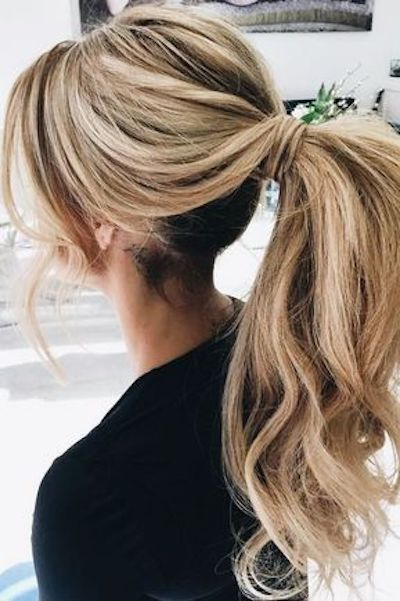 Add volume to your ponytail and look wedding ready!