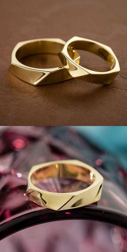 Si buscas anillos de boda originales este par es perfecto para ti por Jewelry Escorial.