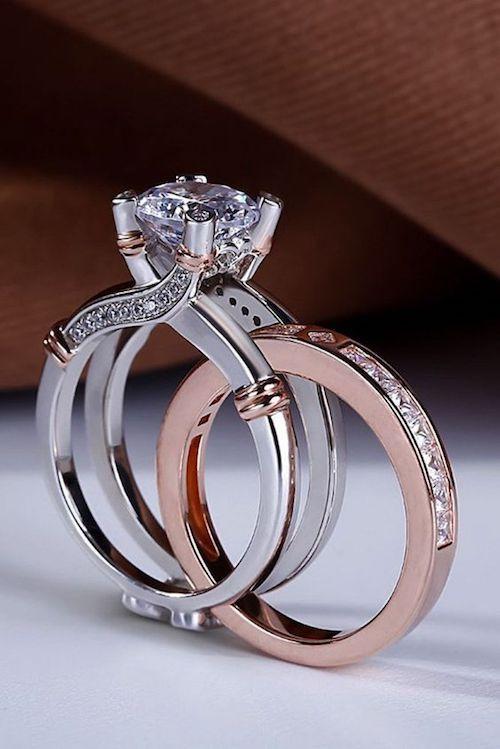 8be9a153b60b Los bridal sets son la manera de combinar el anillo de compromiso de tu  sueños con